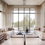 шторы на панорамные окна фото примеров