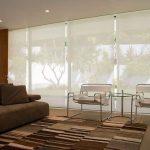 шторы на панорамные окна фото текстиль