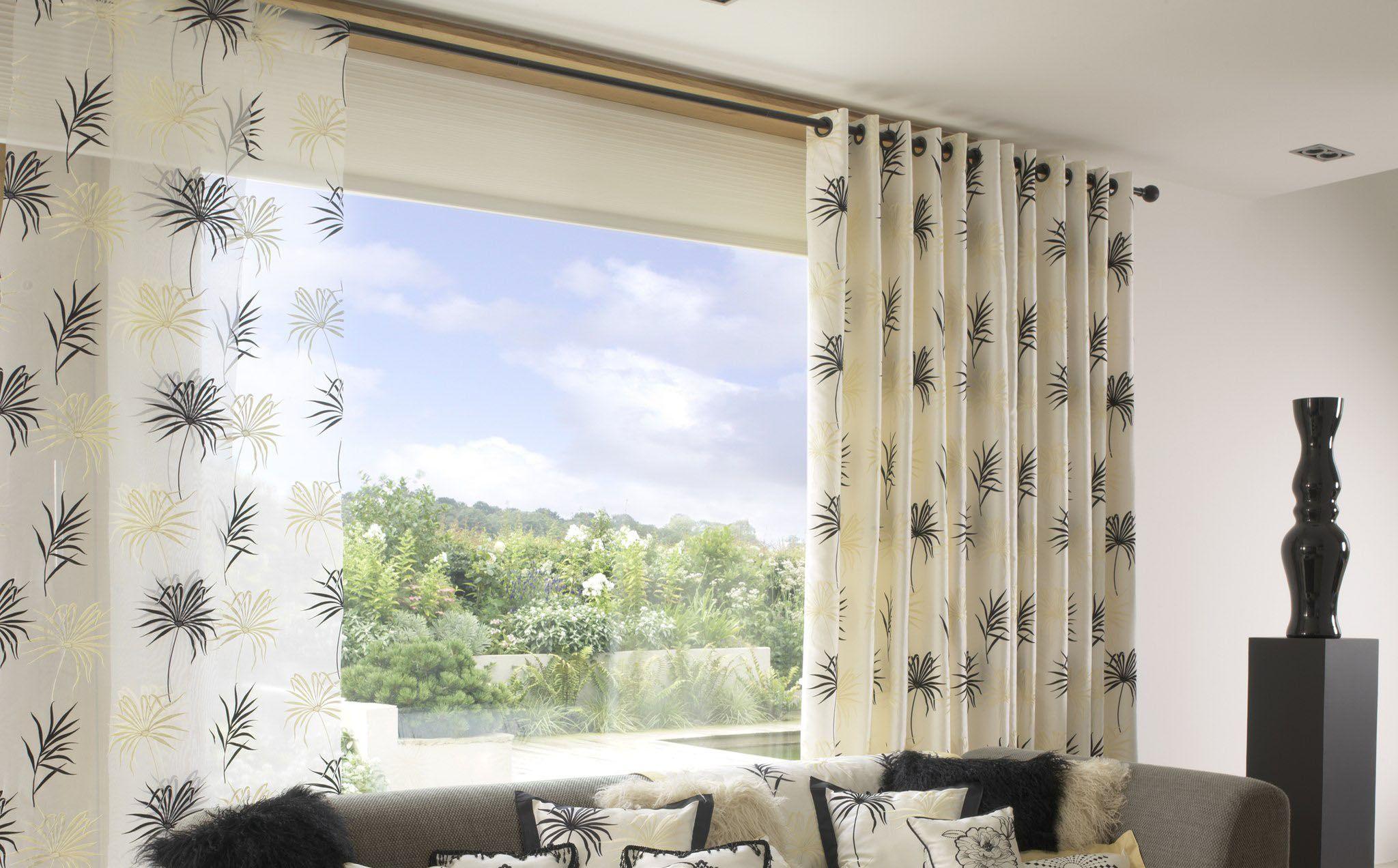 шторы на панорамные окна фото вариантов