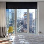 шторы на панорамные окна идеи текстиля
