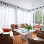 шторы на панорамные окна оформление фото