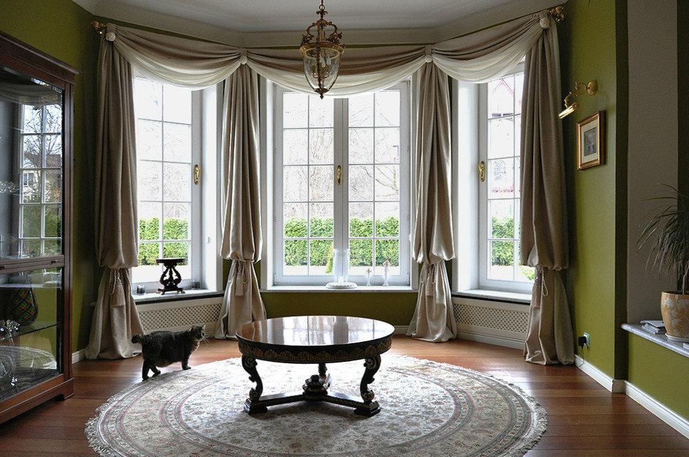 шторы на панорамные окна примеры идеи