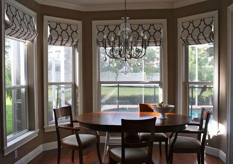 шторы на панорамные окна текстиль