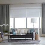 шторы на панорамные окна варианты