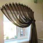шторы и тюль без карниза декор фото