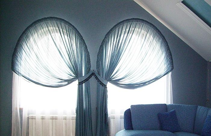 как повесить шторы без карниза фото идеи