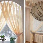 шторы и тюль без карниза идеи интерьера