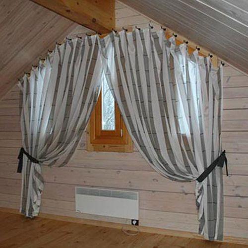 как повесить шторы без карниза идеи