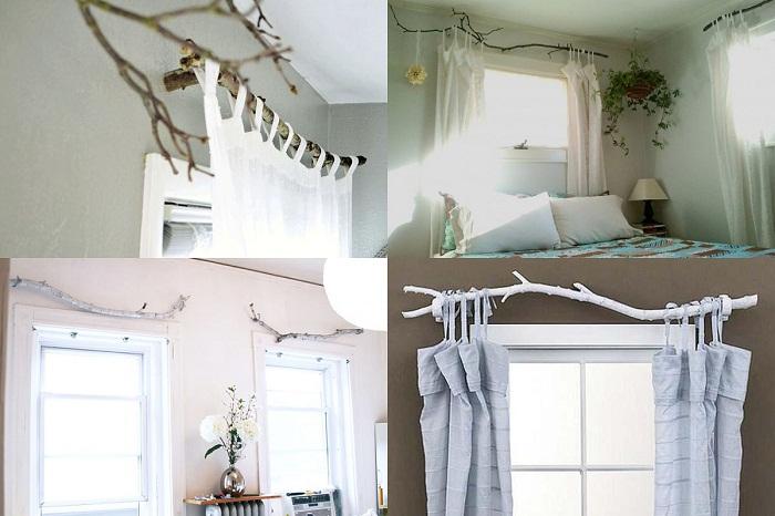 как повесить шторы без карниза фото оформление