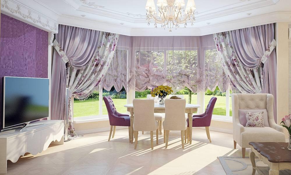 шторы и тюль в гостиную