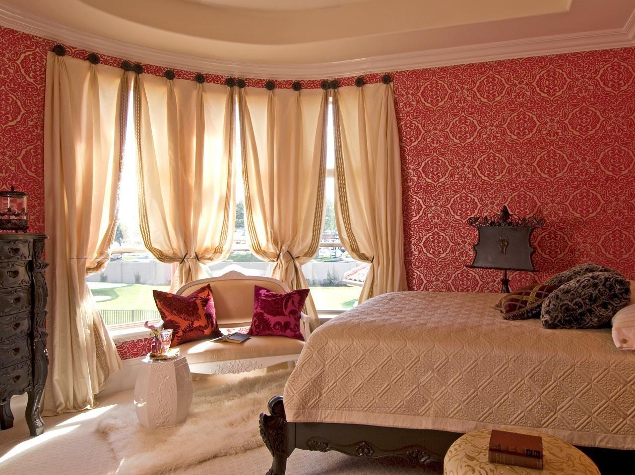 шторы на эркерное окно