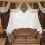 шторы на эркерные окна фото интерьера