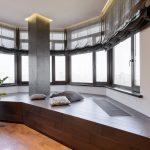 шторы на эркерные окна идеи фото
