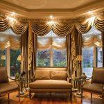 шторы на эркерные окна интерьер идеи