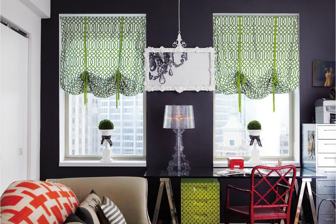 шторы на маленькие окна идеи текстиль