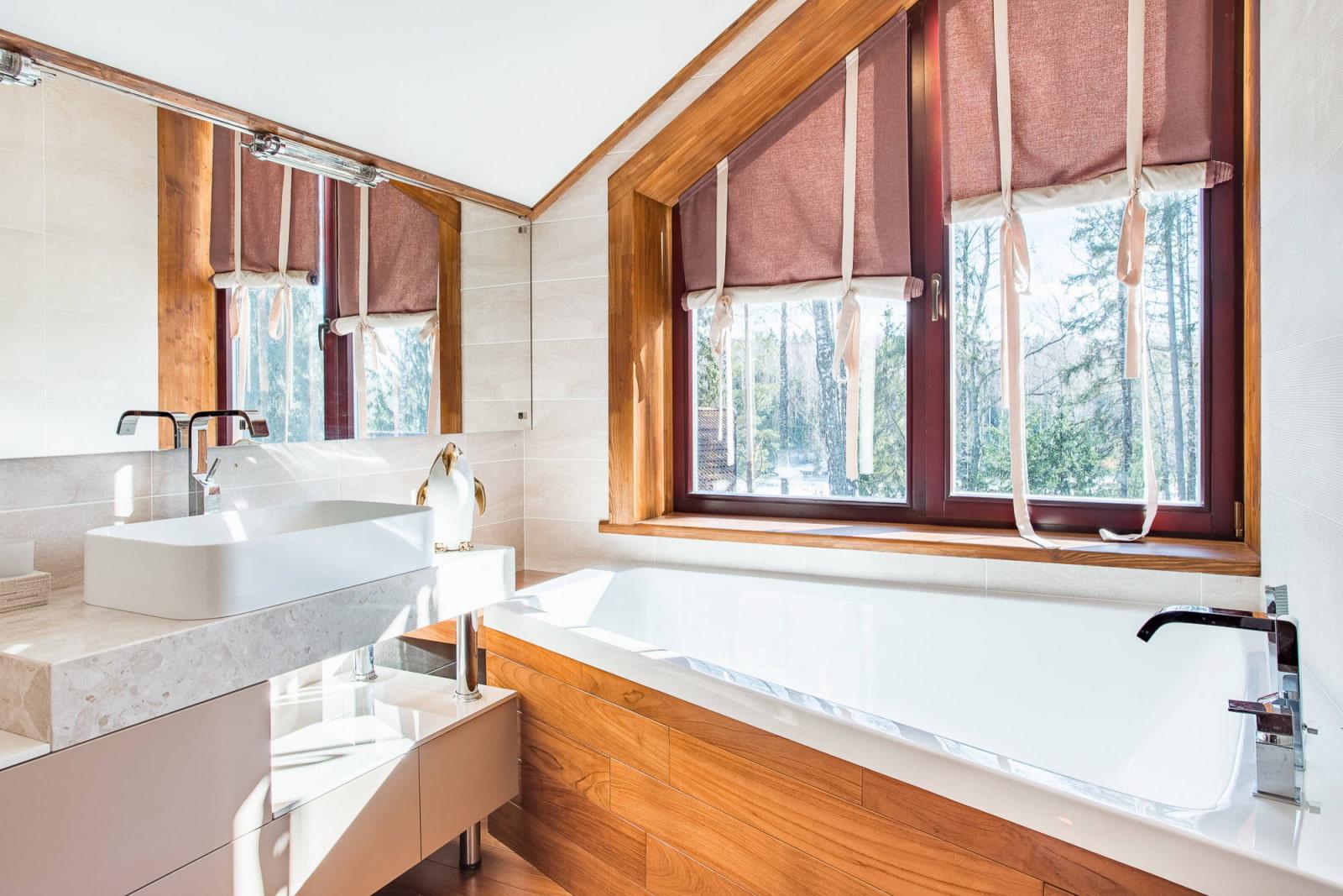 шторы на мансардные окна дизайн фото