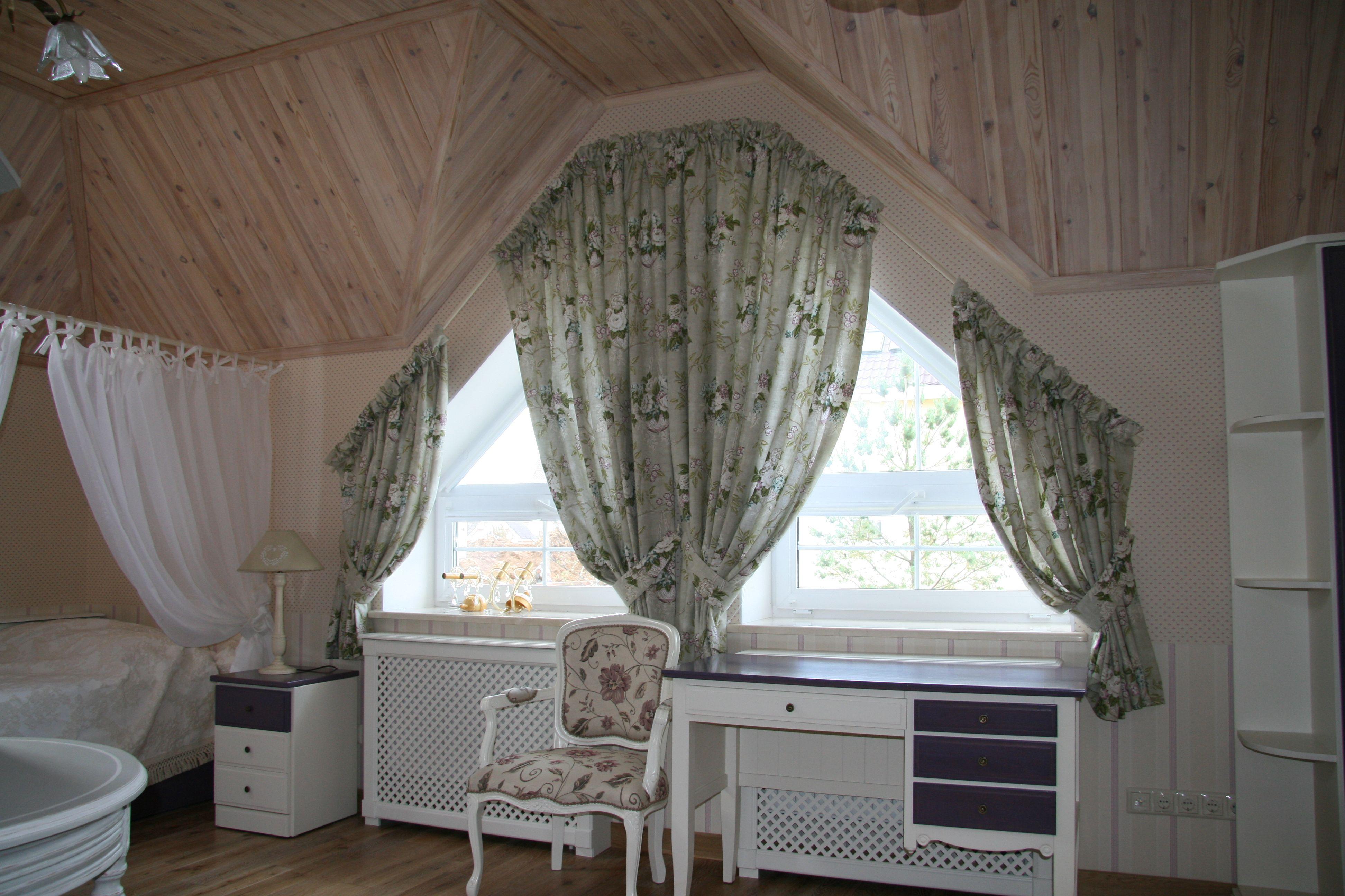 шторы на мансардные окна идеи дизайна