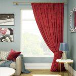 шторы на одну сторону окна идеи текстиля
