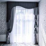 шторы на одну сторону окна идеи выбор