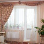 шторы на одну сторону окна интерьер дизайн