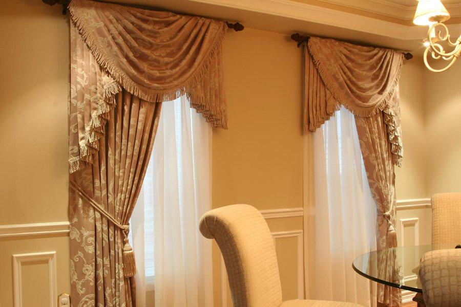шторы на одну сторону окна текстиль фото