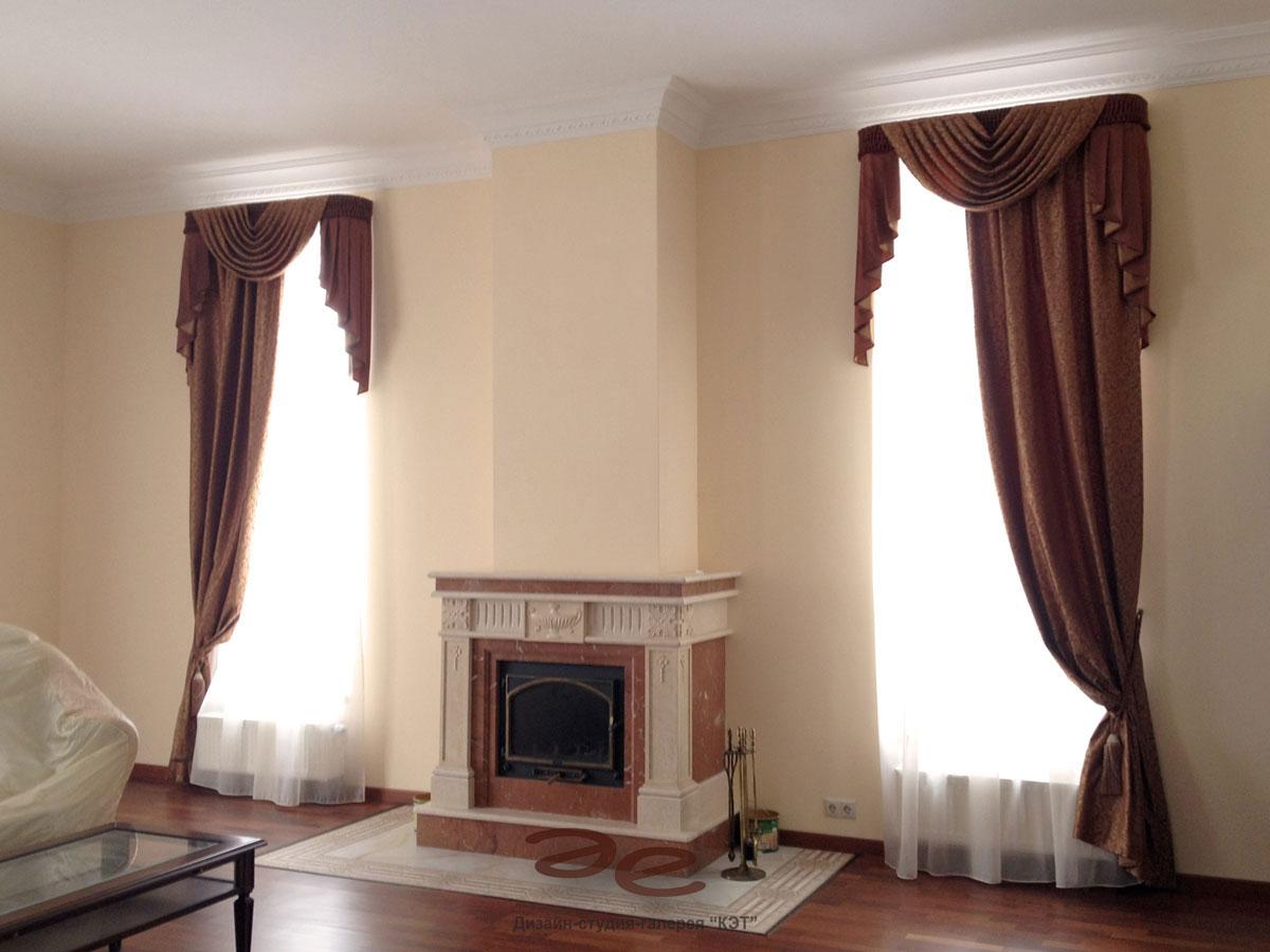 шторы на одну сторону окна выбор