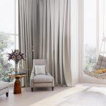 шторы на панорамные окна идеи интерьер