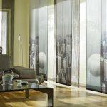 шторы на панорамные окна интерьер