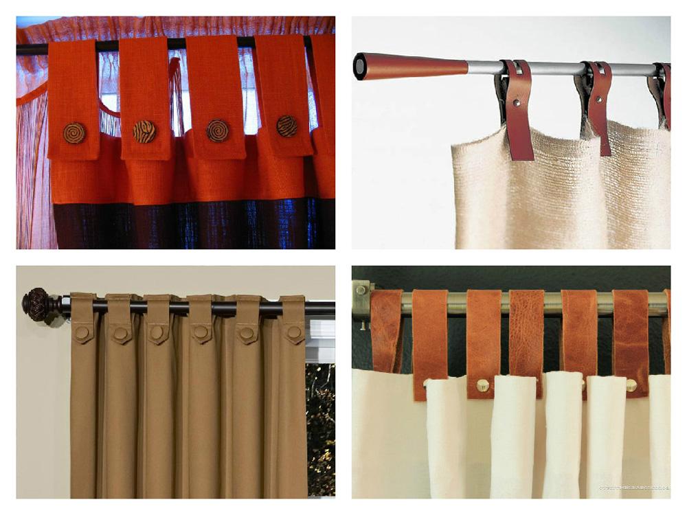 шторы на петлях фото варианты
