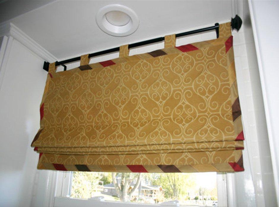 шторы на петлях римские