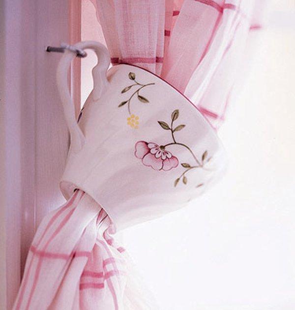 шторы с чашкой подхватом