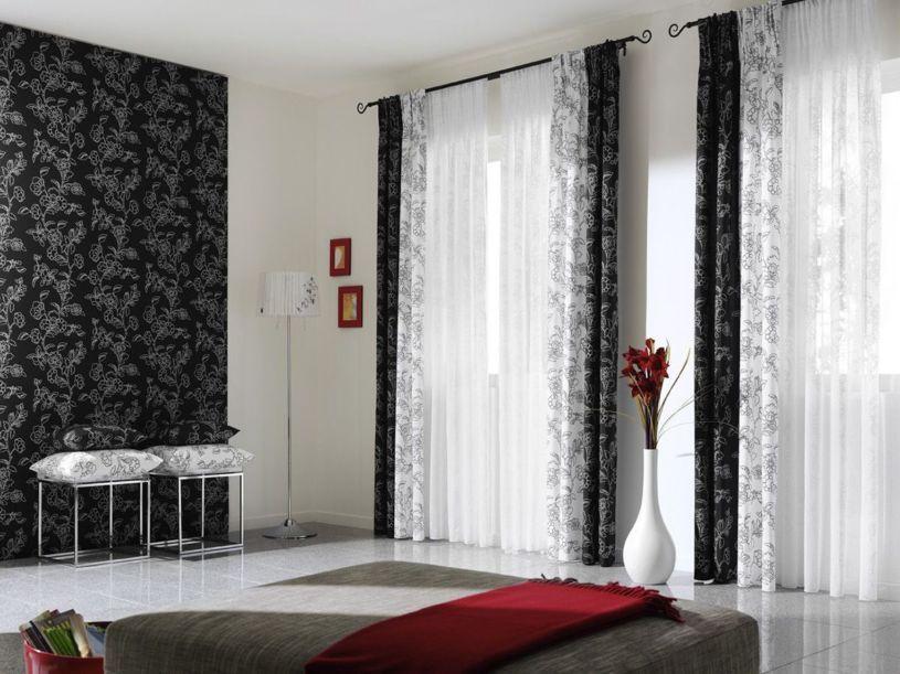 шторы с рисунком дизайн интерьера