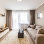 шторы с тюлем в гостиной дизайн