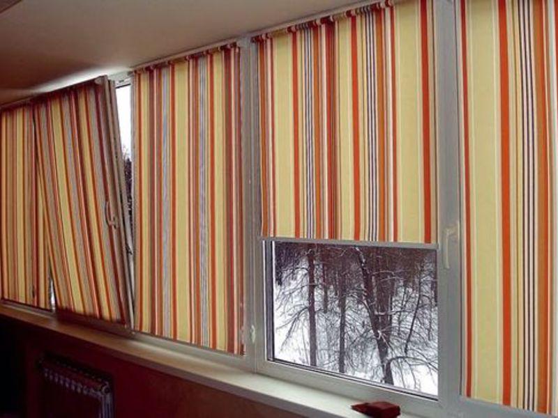 шторы самодельные рулонные