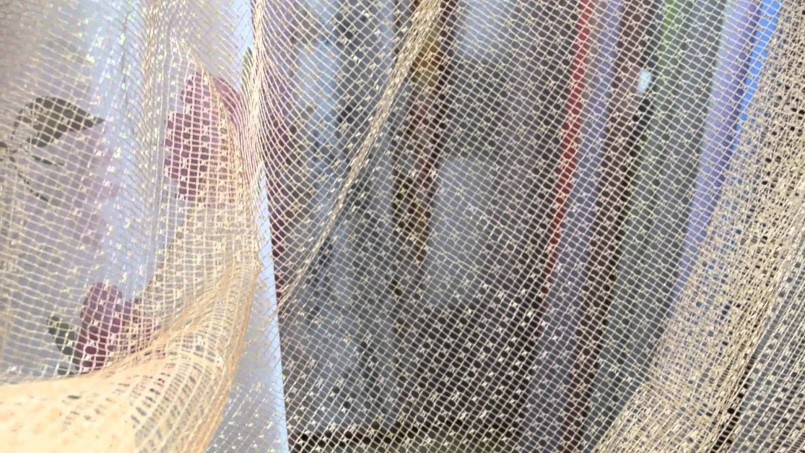 шторы из сетки дизайн фото
