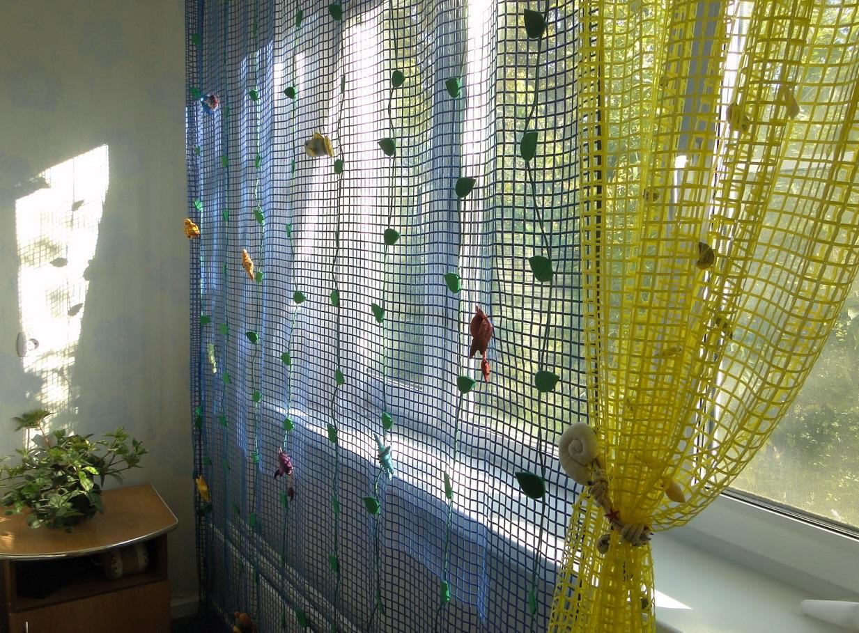 шторы из сетки варианты фото