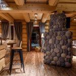 шторы в деревянном доме дизайн