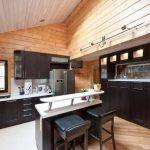 шторы в деревянном доме фото текстиль