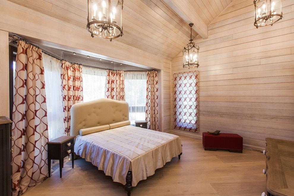 шторы в деревянном доме идеи декор