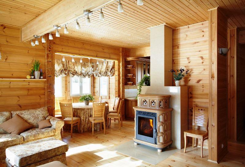 шторы в деревянном доме идеи текстиля