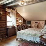 шторы в деревянном доме текстиль фото