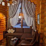 шторы в деревянном доме текстиль идеи
