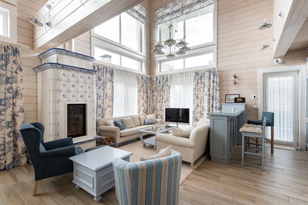 шторы в деревянном доме текстиль