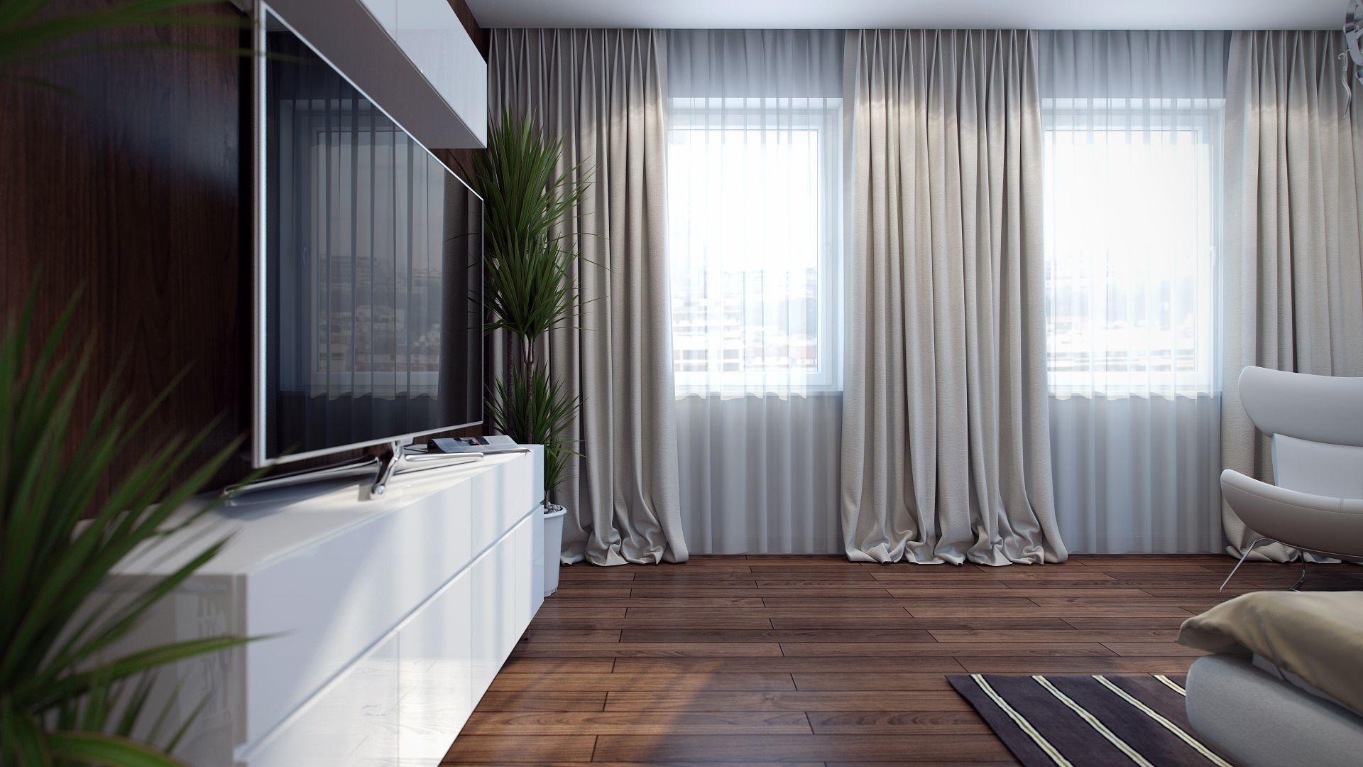 светлые шторы с тюлем