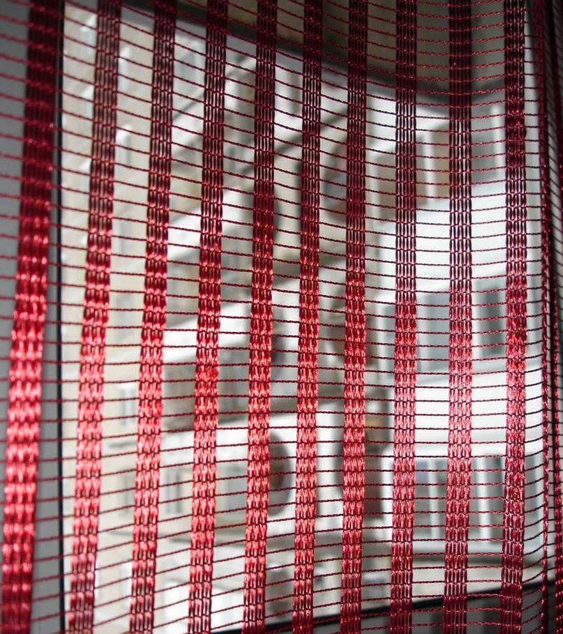 красный тюль из сетки