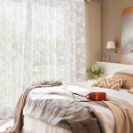 тюль в спальне дизайн