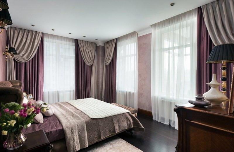 тюль в спальне дизайн интерьера