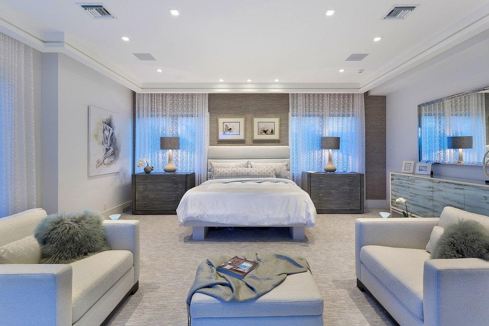 тюль в спальне фото декор