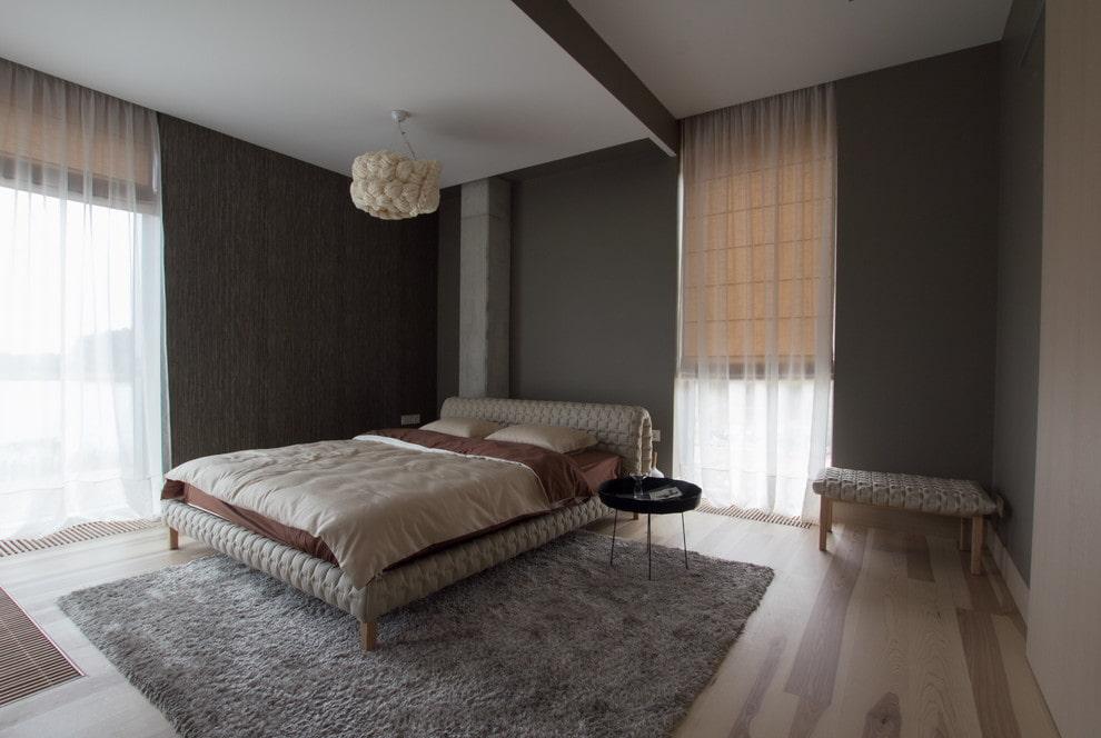 тюль в спальне идеи дизайна