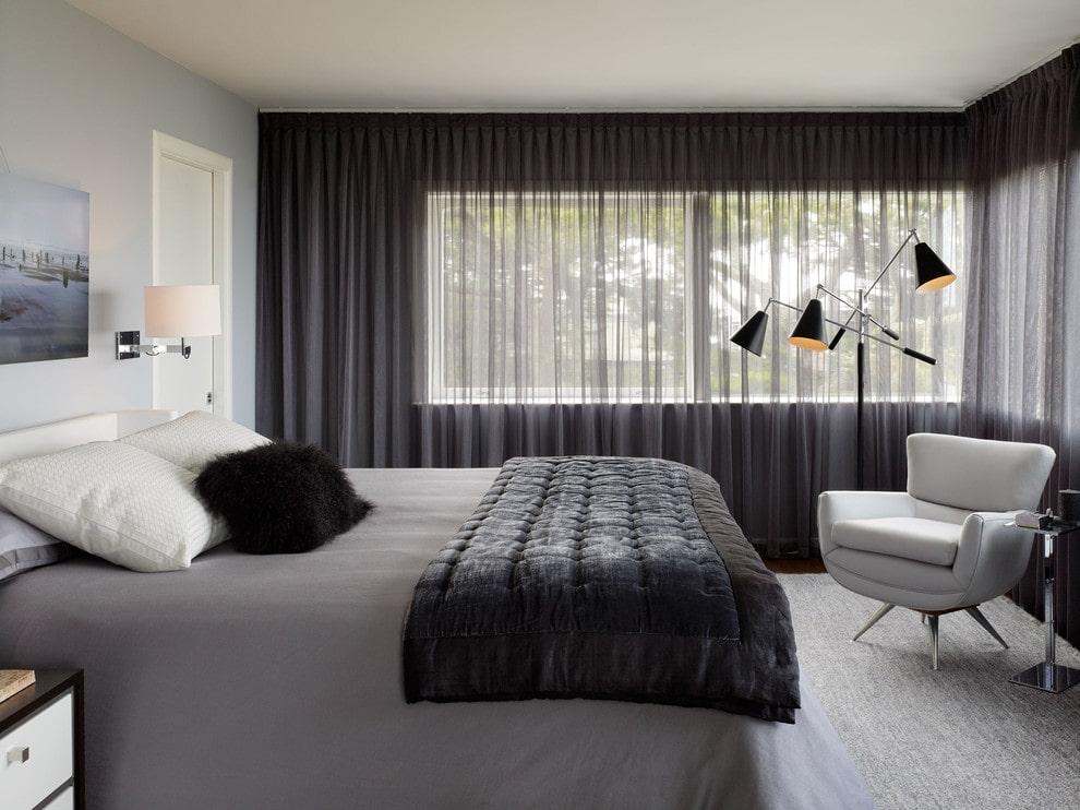 тюль в спальне фото интерьера